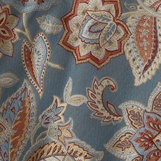 Floral Bedding: Federal Waverly TREASTROVE DRAPERY PAIR