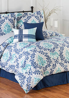 Home Accents 6PC BELMONT TURNSTYLE COMFORTER SET - FULL