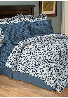 Home Accents® Edessa Reversible 8-Piece Bedding Ensemble