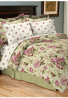Home Accents Lindsay Reversible 8-Piece Bedding Ensemble