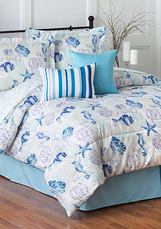Home Accents 6PC SEA COAST TURNSTYLE COMFORTER SET - FULL