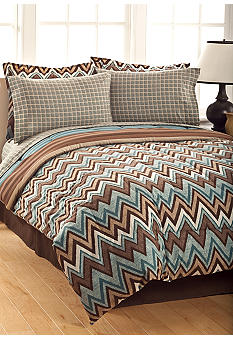 Home Accents Topaz Reversible 8-Piece Bedding Ensemble
