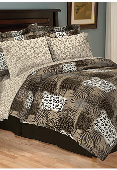 Home Accents Zanzibar Reversible 8-Piece Bedding Ensemble