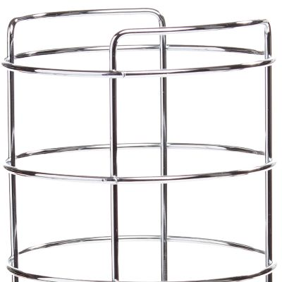 Home Care Products: Chrome Taymor Three Roll Toilet Tissue Basket