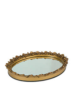 Taymor Oval Resin Mirror Tray