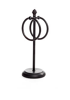 Taymor Countertop Towel Ring with Pineapple Finial