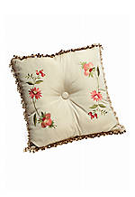 Festival Floral Chintz Embroidered Square Pillow 20-in. x 20-in.