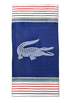 Lacoste Marine Peacoat Beach Towel