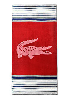 Lacoste Marine Chilli Pepper Beach Towel