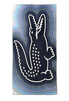 Lacoste Crocodegrede Bleu Beach Towel
