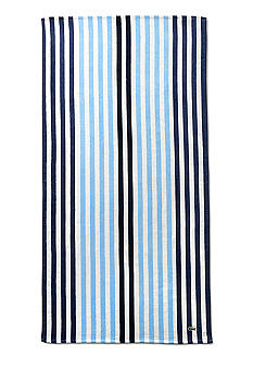 Lacoste Vertical Stripe Blue Beach Towel