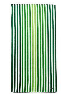 Lacoste Vertical Green Stripe Beach Towel