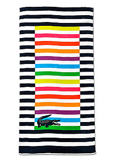 Lacoste Rayures Navy Multi Beach Towel