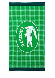 Lacoste Net Green Beach Towel