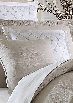 Biltmore Mansion Lattice Embroidered Square Decorative Pillow