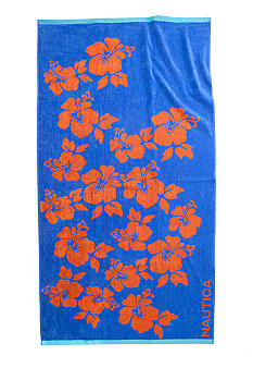 Nautica Hawaiian Floral Beach Towel
