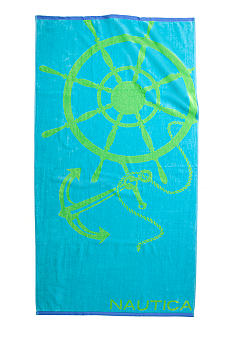Nautica Anchor and Wheel Beach Towel