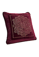 Corinthia Burgundy Decorative Pillow 18-in. x 18-in.