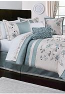 Home Accents® Allium Blue 8-Piece Luxury Bed Ensemble