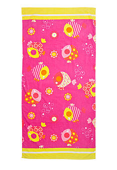 J Khaki Bubble Fish Youth Beach Towel