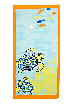 J Khaki Turtle Youth Beach Towel
