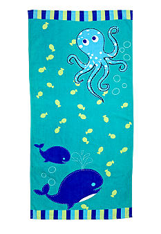 J Khaki Ocean Life Youth Beach Towel