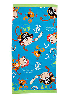 J Khaki Pirate Monkey Youth Beach Towel