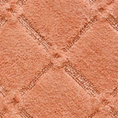 Bath Mats: Burnt Coral Jessica Simpson Trellis Bath Rug Collection - Online Only