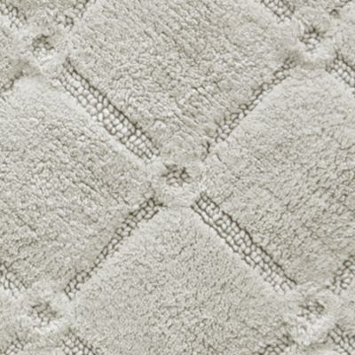 Bath Mats: Oyster Gray Jessica Simpson Trellis Bath Rug Collection - Online Only