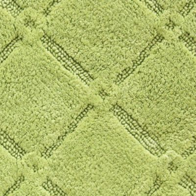 Bath Mats: Celery Green Jessica Simpson Trellis Bath Rug Collection - Online Only