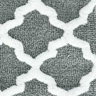 Live in Color: Bath: Gray Jessica Simpson JS QUATREFOIL BRAND 21X34