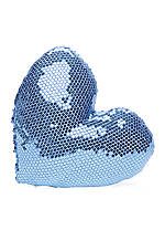 Sequin Heart Decorative Pillow