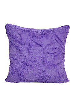 Teen Vogue Decorative Pillow - Plum Faux Fur - Online Only