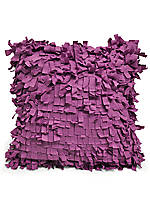 Lilac Hill Shag Decorative Pillow 16-in. x 16-in.