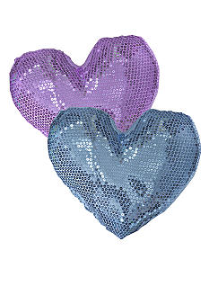 Teen Vogue Sequin Heart Decorative Pillows - Online Only