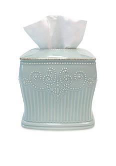 Lenox PERLE ICE BLUE TISSUE HOLDER