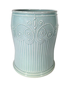 Lenox PERLE ICE BLUE WASTE BSKT