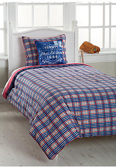 J Khaki American League Bedding Collection