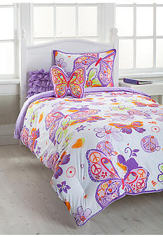 J Khaki Glitter Butterfly Bedding Collection