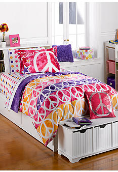 J Khaki Peace Rocks Bedding Collection