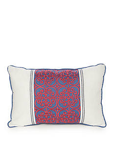 Home Accents Casual Living Tully Pieced and Embroidered Decorative Pillow