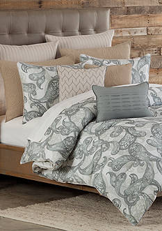 Home Accents Casual Living Bailey King Reversible Duvet Mini Set 108-in. x 96-in.