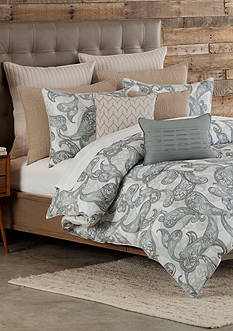 Home Accents Casual Living Bailey King Reversible Comforter Mini Set 106-in. x 94-in.
