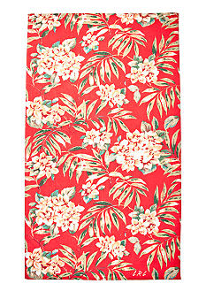 Lauren Ralph Lauren Home Cabana Floral Red Beach Towel