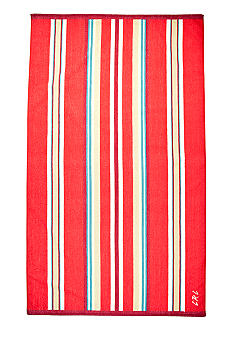 Lauren Ralph Lauren Home Awning-Striped Red Beach Towel