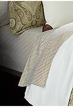 Tan and White Desert Spa King Flat Sheet