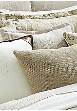 Cream and Camel Desert Spa Heringbone Decorative Pillow 18-in. x 18-in.