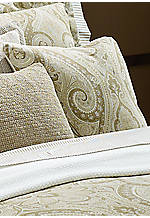Soft Tan Desert Spa Paisley Decorative Pillow 18-in. x 18-in.