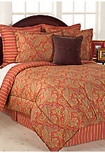 Edmonton Paisley Muted Red King Comforter Set 110-in. x 96-in.