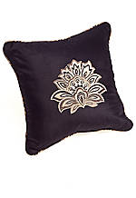 Valdosta Black Decorative Pillow with Center Detail 18-in. x 18-in.